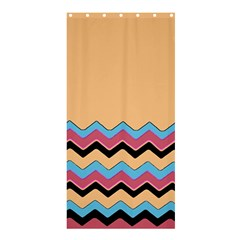 Chevrons Patterns Colorful Stripes Background Art Digital Shower Curtain 36  x 72  (Stall)