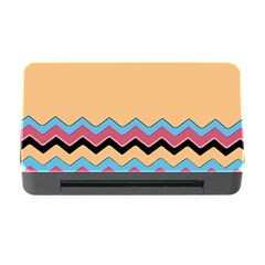 Chevrons Patterns Colorful Stripes Background Art Digital Memory Card Reader with CF