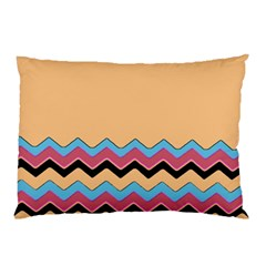 Chevrons Patterns Colorful Stripes Background Art Digital Pillow Case (two Sides)