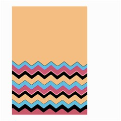 Chevrons Patterns Colorful Stripes Background Art Digital Small Garden Flag (two Sides)