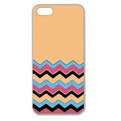 Chevrons Patterns Colorful Stripes Background Art Digital Apple Seamless iPhone 5 Case (Clear)
