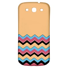Chevrons Patterns Colorful Stripes Background Art Digital Samsung Galaxy S3 S III Classic Hardshell Back Case