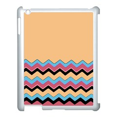 Chevrons Patterns Colorful Stripes Background Art Digital Apple iPad 3/4 Case (White)