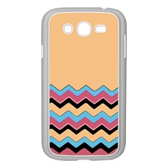 Chevrons Patterns Colorful Stripes Background Art Digital Samsung Galaxy Grand DUOS I9082 Case (White)