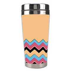Chevrons Patterns Colorful Stripes Background Art Digital Stainless Steel Travel Tumblers