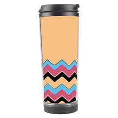 Chevrons Patterns Colorful Stripes Background Art Digital Travel Tumbler