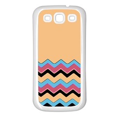 Chevrons Patterns Colorful Stripes Background Art Digital Samsung Galaxy S3 Back Case (White)