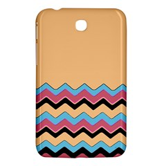 Chevrons Patterns Colorful Stripes Background Art Digital Samsung Galaxy Tab 3 (7 ) P3200 Hardshell Case