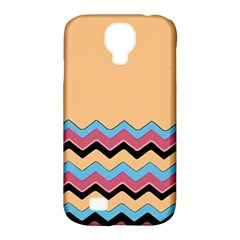 Chevrons Patterns Colorful Stripes Background Art Digital Samsung Galaxy S4 Classic Hardshell Case (pc+silicone)
