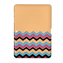 Chevrons Patterns Colorful Stripes Background Art Digital Samsung Galaxy Tab 2 (10 1 ) P5100 Hardshell Case