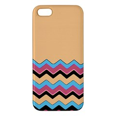 Chevrons Patterns Colorful Stripes Background Art Digital iPhone 5S/ SE Premium Hardshell Case