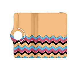 Chevrons Patterns Colorful Stripes Background Art Digital Kindle Fire HDX 8.9  Flip 360 Case