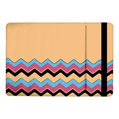 Chevrons Patterns Colorful Stripes Background Art Digital Samsung Galaxy Tab Pro 10.1  Flip Case