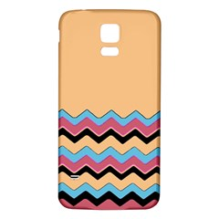 Chevrons Patterns Colorful Stripes Background Art Digital Samsung Galaxy S5 Back Case (White)