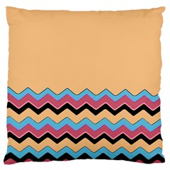 Chevrons Patterns Colorful Stripes Background Art Digital Large Flano Cushion Case (Two Sides)
