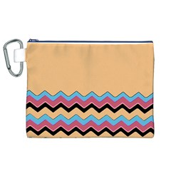 Chevrons Patterns Colorful Stripes Background Art Digital Canvas Cosmetic Bag (xl)