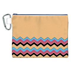 Chevrons Patterns Colorful Stripes Background Art Digital Canvas Cosmetic Bag (XXL)