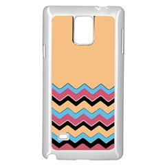 Chevrons Patterns Colorful Stripes Background Art Digital Samsung Galaxy Note 4 Case (white)