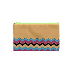Chevrons Patterns Colorful Stripes Background Art Digital Cosmetic Bag (XS)