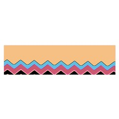 Chevrons Patterns Colorful Stripes Background Art Digital Satin Scarf (Oblong)