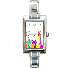 Simple Abstract With Copyspace Rectangle Italian Charm Watch