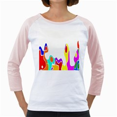 Simple Abstract With Copyspace Girly Raglans
