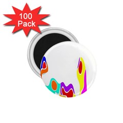 Simple Abstract With Copyspace 1 75  Magnets (100 Pack)