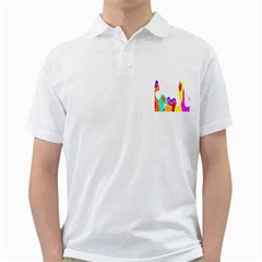 Simple Abstract With Copyspace Golf Shirts
