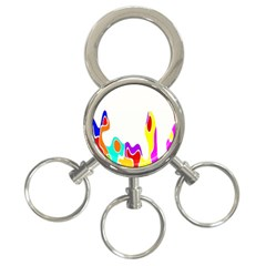 Simple Abstract With Copyspace 3-Ring Key Chains