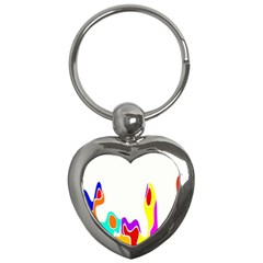 Simple Abstract With Copyspace Key Chains (heart)