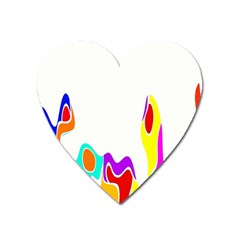 Simple Abstract With Copyspace Heart Magnet