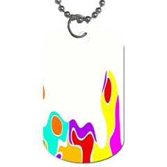 Simple Abstract With Copyspace Dog Tag (One Side)