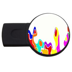 Simple Abstract With Copyspace USB Flash Drive Round (2 GB)