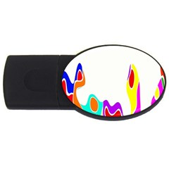 Simple Abstract With Copyspace USB Flash Drive Oval (1 GB)