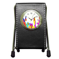 Simple Abstract With Copyspace Pen Holder Desk Clocks