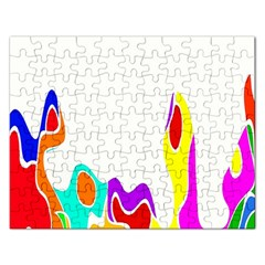 Simple Abstract With Copyspace Rectangular Jigsaw Puzzl