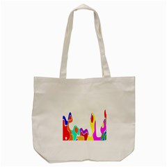 Simple Abstract With Copyspace Tote Bag (Cream)