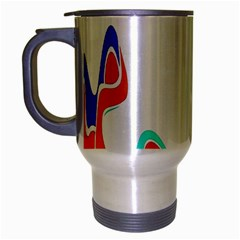 Simple Abstract With Copyspace Travel Mug (Silver Gray)