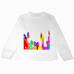 Simple Abstract With Copyspace Kids Long Sleeve T Shirts