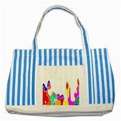Simple Abstract With Copyspace Striped Blue Tote Bag