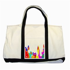 Simple Abstract With Copyspace Two Tone Tote Bag