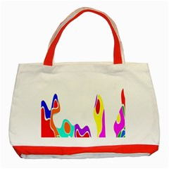 Simple Abstract With Copyspace Classic Tote Bag (red)