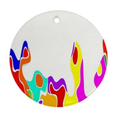 Simple Abstract With Copyspace Round Ornament (two Sides)