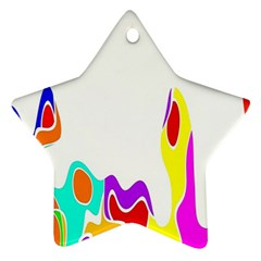 Simple Abstract With Copyspace Star Ornament (Two Sides)
