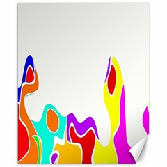 Simple Abstract With Copyspace Canvas 16  X 20