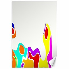 Simple Abstract With Copyspace Canvas 24  X 36