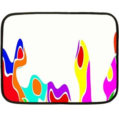 Simple Abstract With Copyspace Double Sided Fleece Blanket (mini)