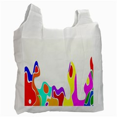Simple Abstract With Copyspace Recycle Bag (one Side)