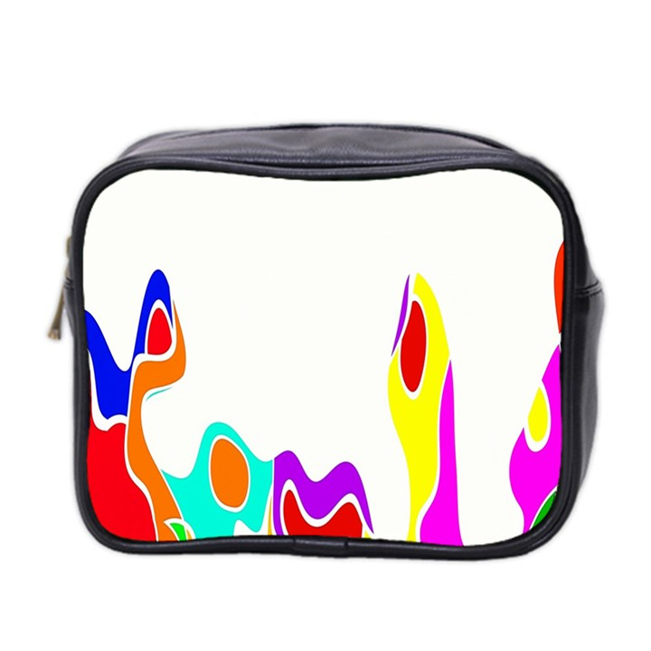 Simple Abstract With Copyspace Mini Toiletries Bag 2-Side