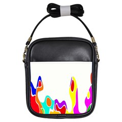 Simple Abstract With Copyspace Girls Sling Bags